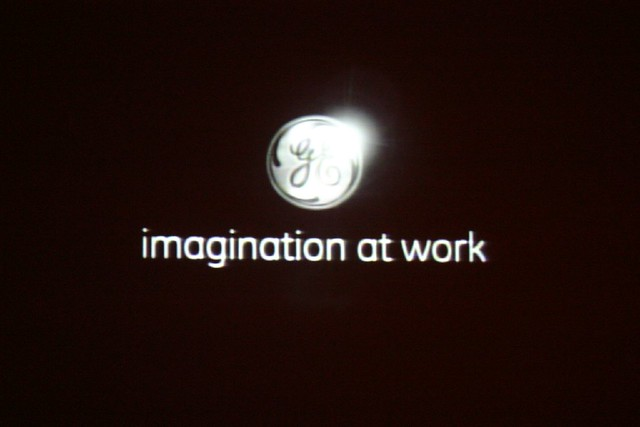 "general electric imagination at work After more than 23 years, in 2003 general electric retired its well-recognized slogan, ""we bring good things to life,"" in favor of its new slogan, ""imagination at work"" though the slogans are meant for ge's main business lines, both slogans also appropriately reflect ge's pension team."