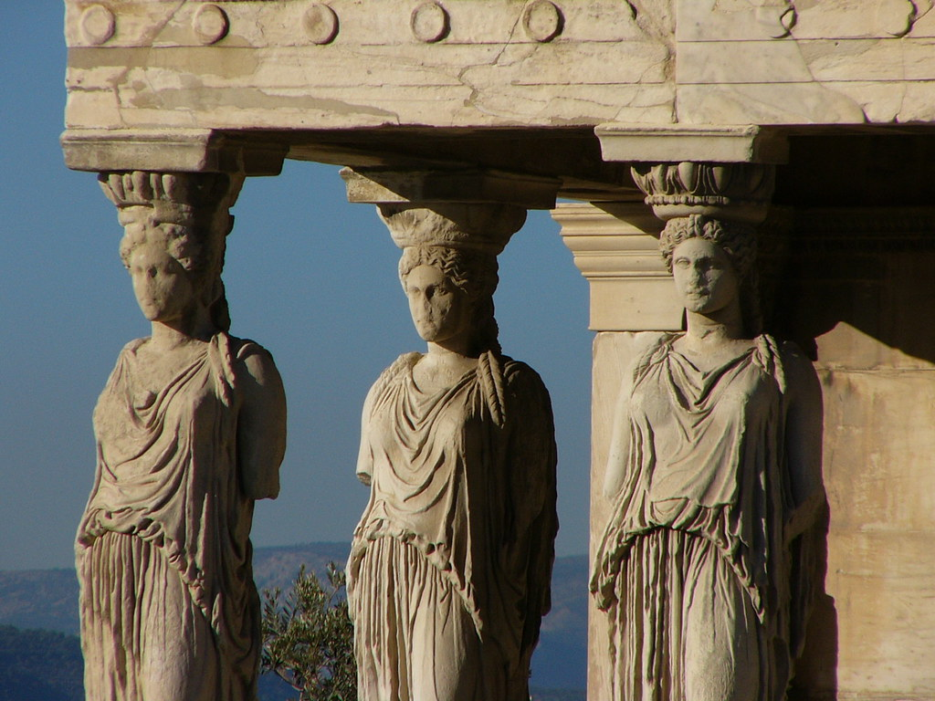 Caryatid Porch of the Erechtheion on the Acropolis at Athe ...