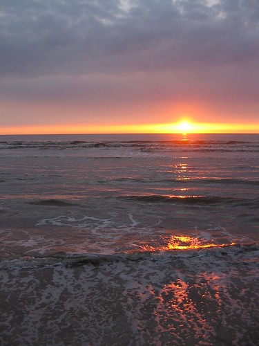 Sunset at Katwijk beach | by harvestmoon
