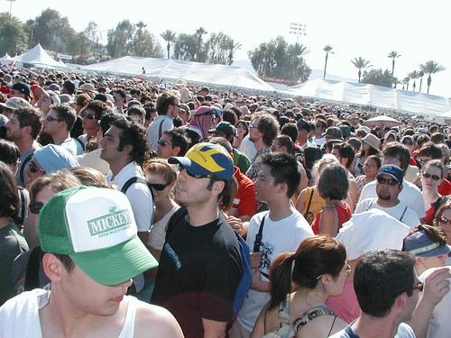 Crowd at Coachella -- it was about 112 at this point. | by d0ug&r0byn