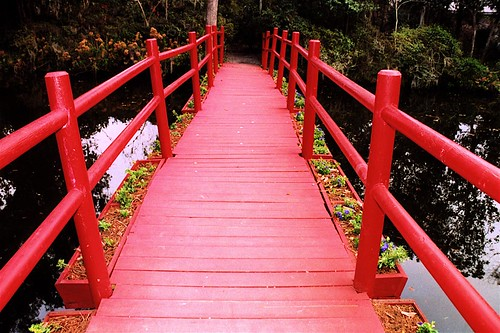 Red Bridge, Magnolia Gardens, Charleston, South Carolina | by Thad Roan - Bridgepix