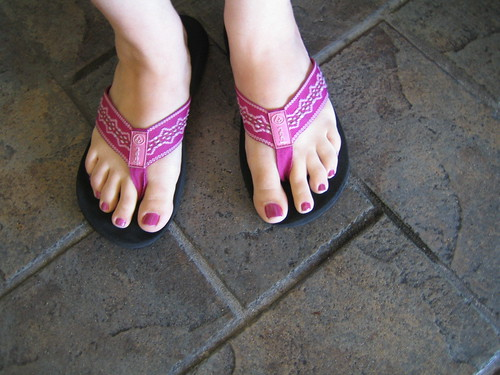 Stylish Pink Flip Flops