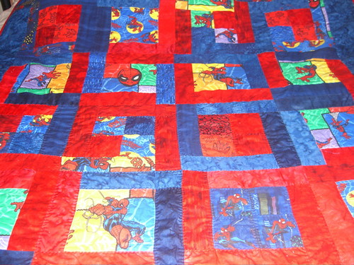 Spiderman Quilt | It's finally finished! I hope my nephew lo ... : spiderman quilt - Adamdwight.com