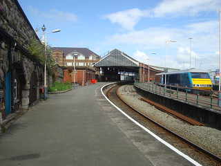 Arriva Trains Wales DVT and coaches at Holyhead station