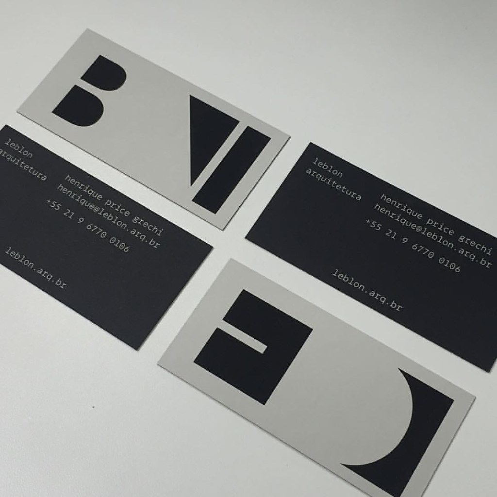 leblonarquitetura business cards proofs are looking reall… | Flickr