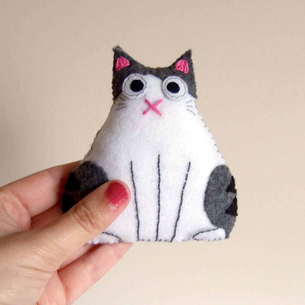 Fat Cat Plush Plushie White And Tabby Spotted Stripes Flickr