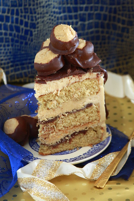 Peanut Butter Ball Cake