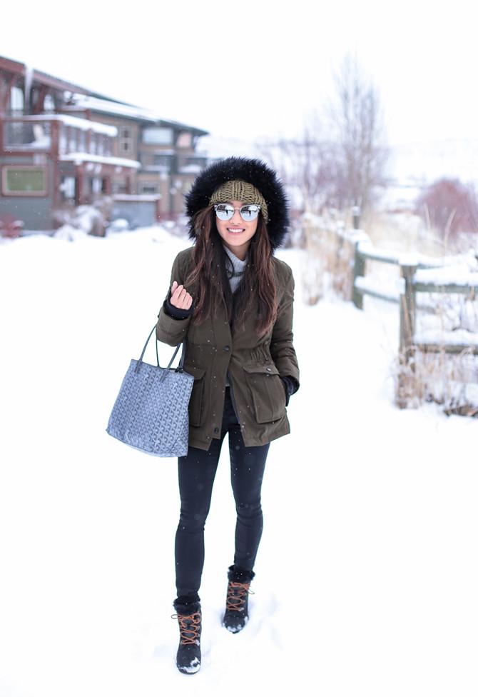 what to wear in park city sundance faux fur parka coat
