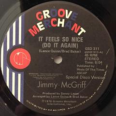 JIMMY MCGRIFF:IT FEELS SO NICE(DO IT AGAIN)(LABEL SIDE-A)