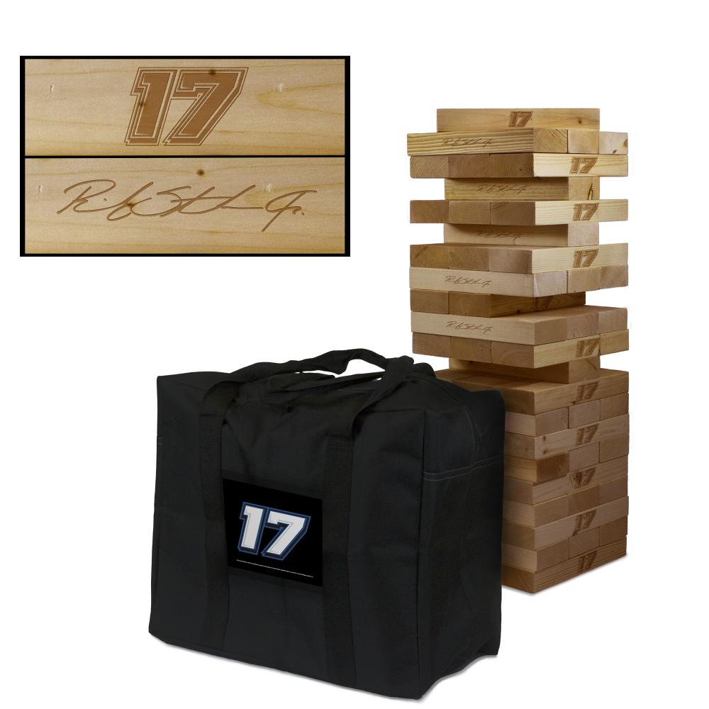 RICKY STENHOUSE JR #17 Wooden Stained Tumble Tower Game