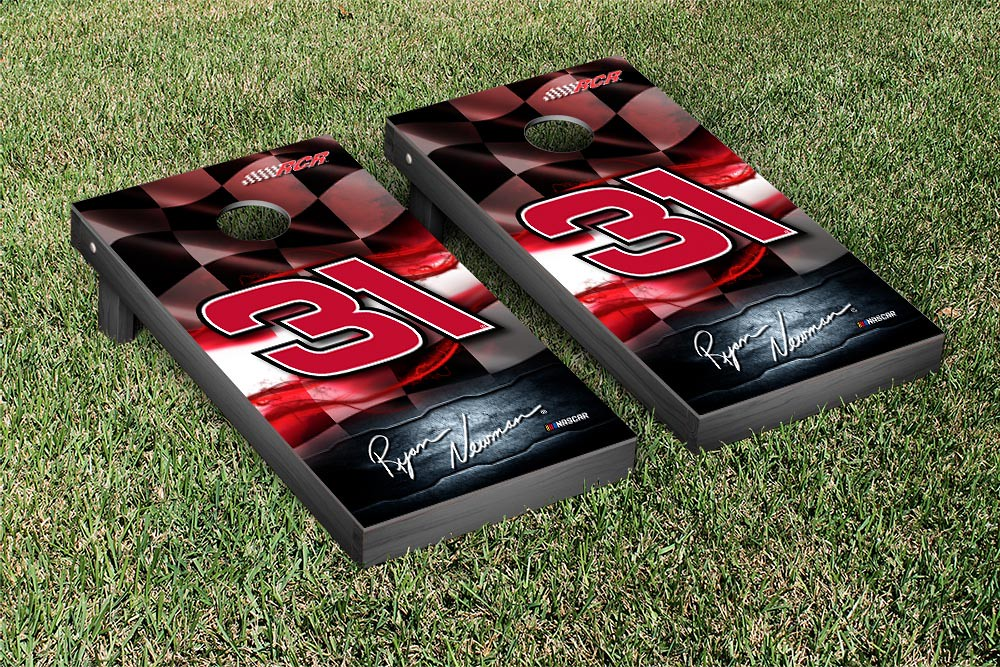 RYAN NEWMAN #31 CORNHOLE GAME SET NIGHT LIGHTS VERSION (1)