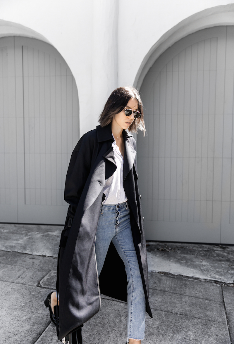 classic wardrobe pieces marie claire x modern legacy denim shirting trench coat (5 of 7)
