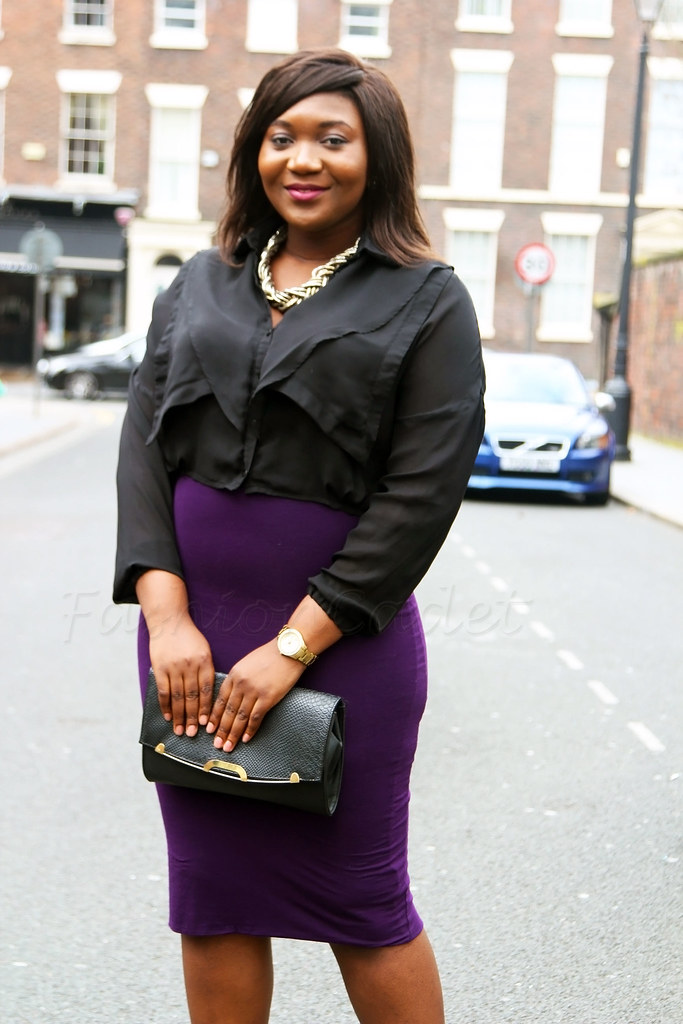 plus-women-fashion-plus-size-fashion-purple-skirt-black-ruffle-top,Curvy fashion, curvy style, curvaceous, curvaceous women, curvaceous women style, curvaceous women fashion, curvy women fashion, curvy women style, plus size fashion