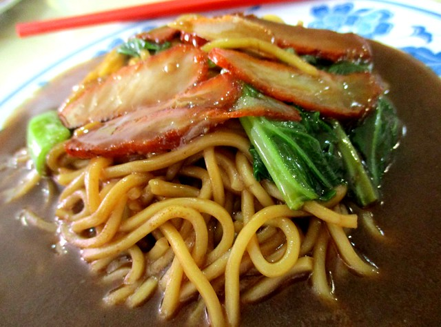 Y2K Cafe Foochow fried noodles with added char siew