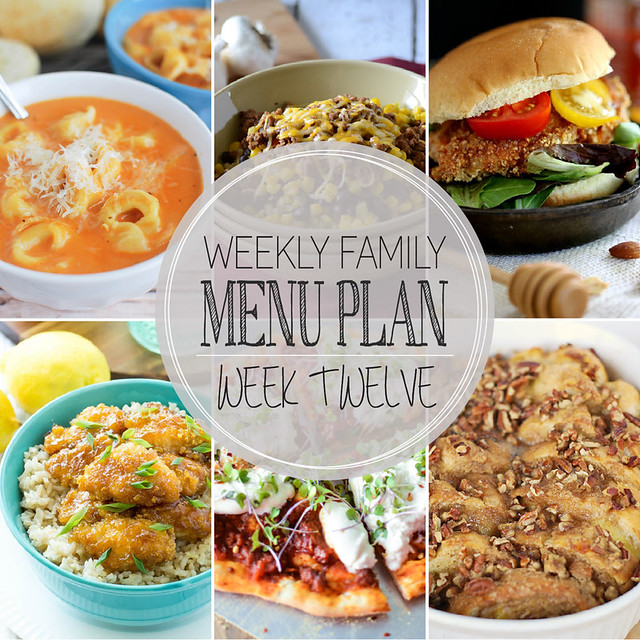 Weekly Family Menu Plan - featuring 5 weeknight dinner recipes, a weekend breakfast, and a yummy dessert!