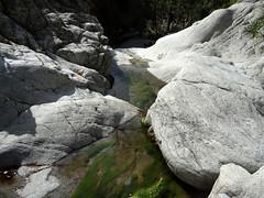 La dernière cascade du Vaglie à contourner en RG