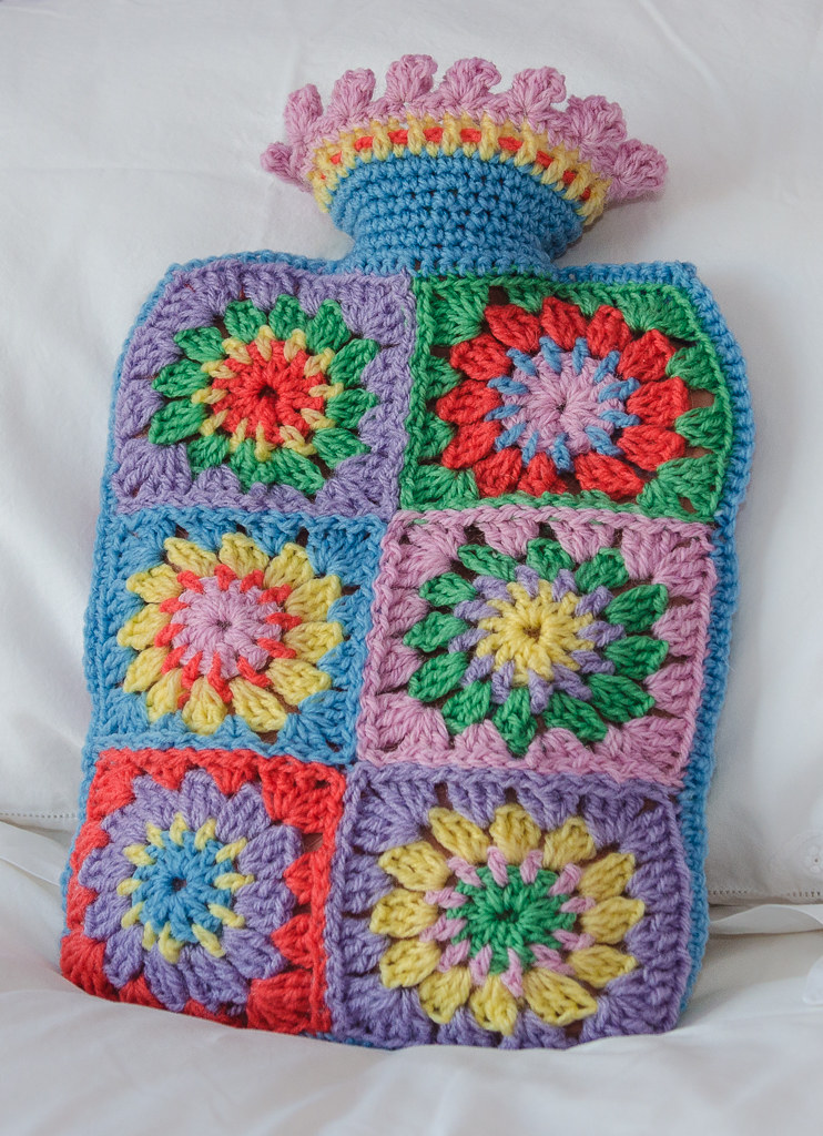 Crochet Hot Water Bottle Cover Spent The Weekend Crochetin Flickr