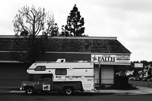 Camper and Church Sign, Rolando, San Diego | by Jesse Keller