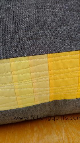 Rainbow gradient pillow quilting