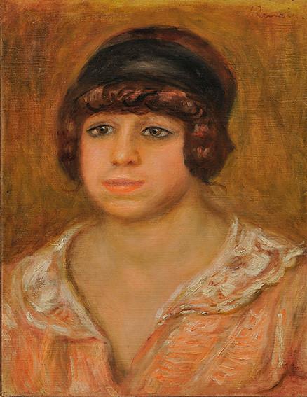 ピエール=オーギュスト・ルノワール《バラ色のブラウスを着けた女(ガブリエル?)》(1914年、三菱一号館美術館寄託)