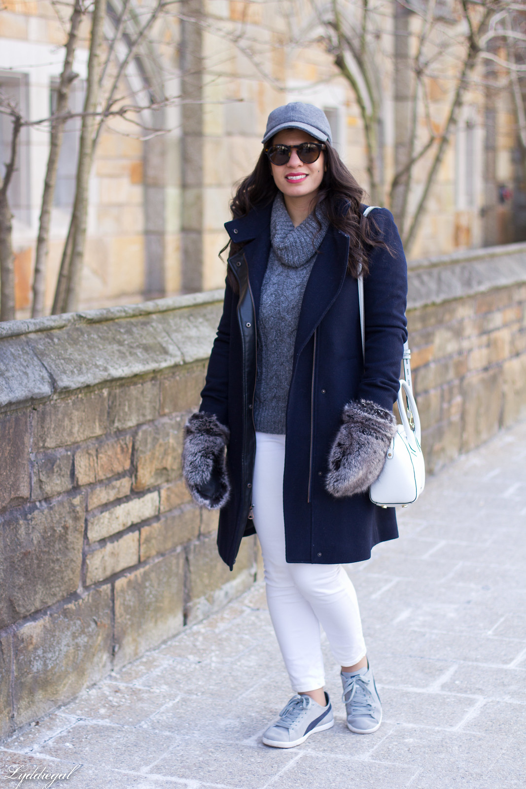 grey turtleneck, white jeans, wool baseball cap, furry mittens-4.jpg