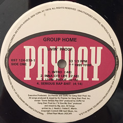 GROUP HOME:LIVIN' PROOF(LABEL SIDE-A)