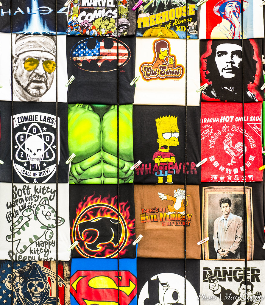 photo of collection of tshirt prints to inspire you to make your own tshirt online
