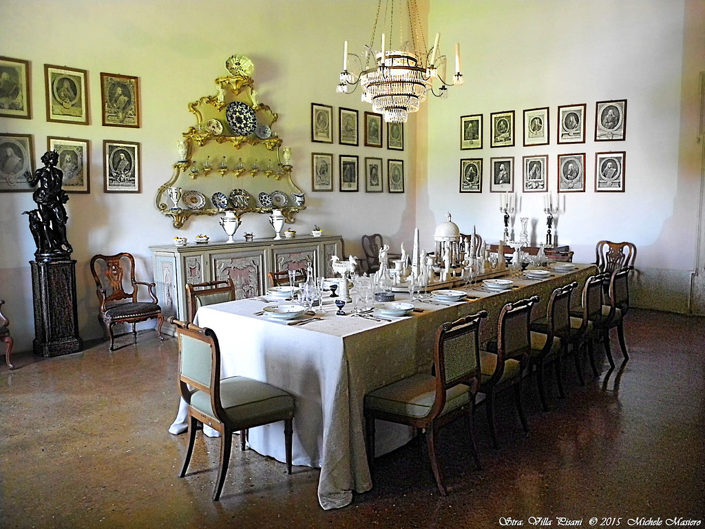 Stra: Villa Pisani, Sala da pranzo del \'700,Dining room of… | Flickr