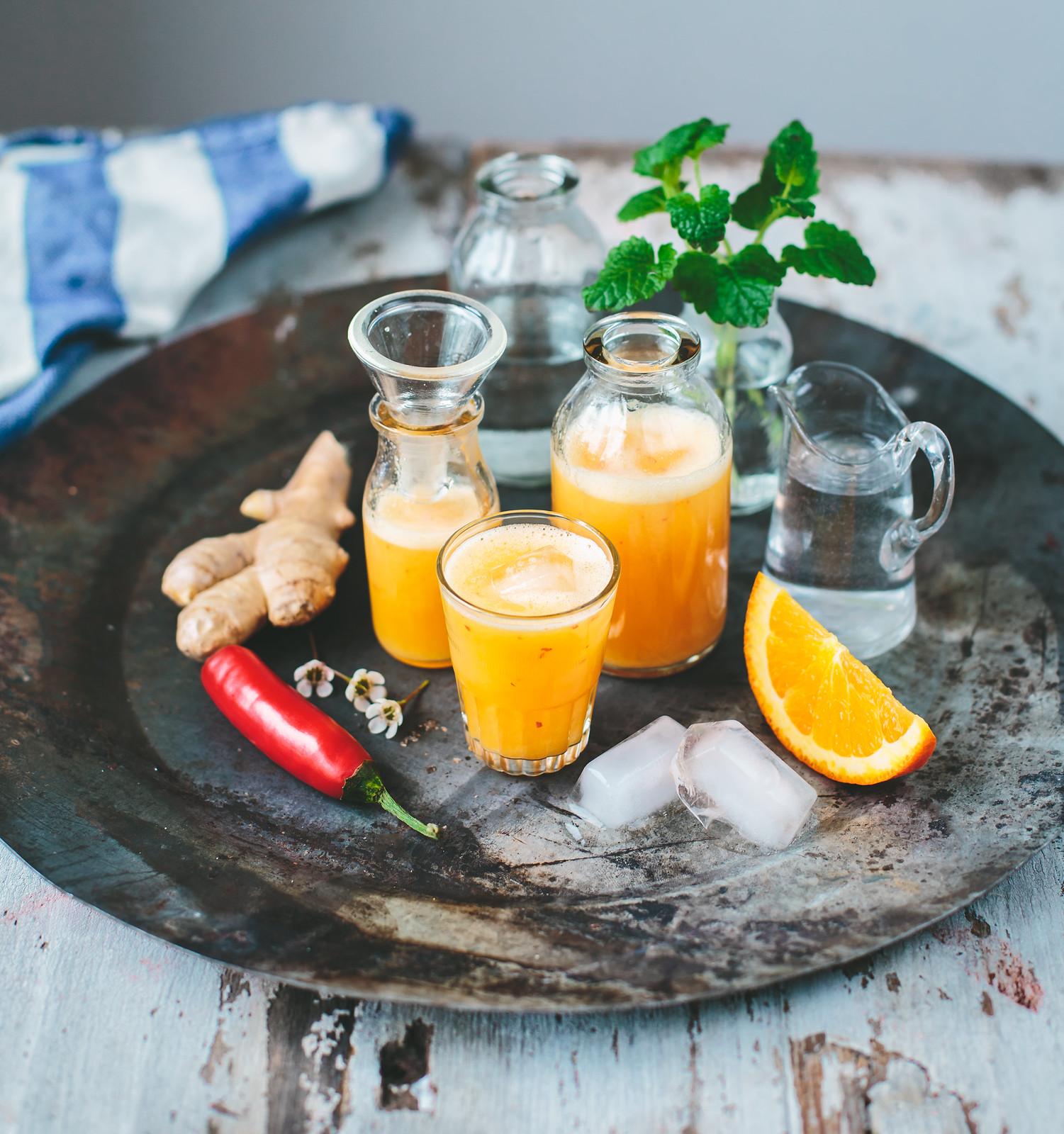 Ingefärsshot med chili & apelsin - Evelinas Ekologiska