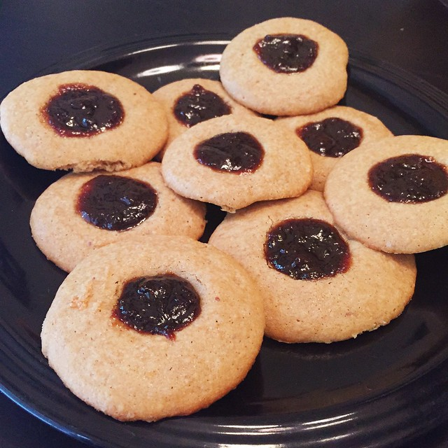 Peanut Butter & Jelly Thumbprints