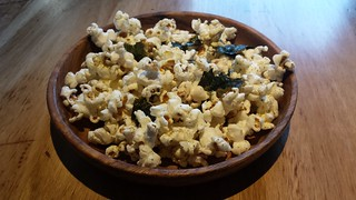 Oragnic Popcorn with Japanese Spiced Sea Salt and Nori at Transformer