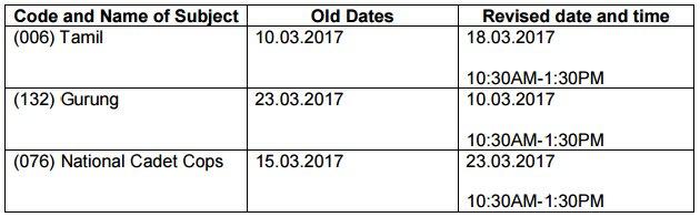 CBSE Class 10 Revised Date Sheet