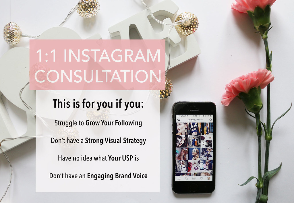 1 to 1 Instagram consultation - work with me www.fashionartista.com