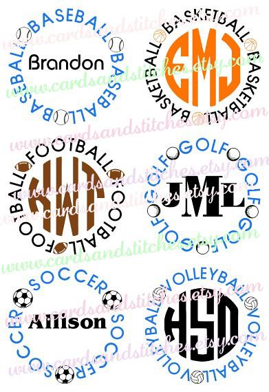 Sports Ball Frames SVG | Cindy Miller | Flickr