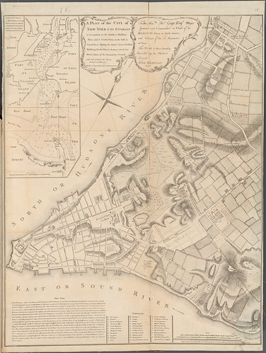 John Montresor map of NYC 1775 NYPL Z