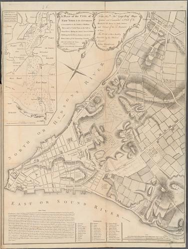 John Montresor map of NYC 1775 NYPL Z