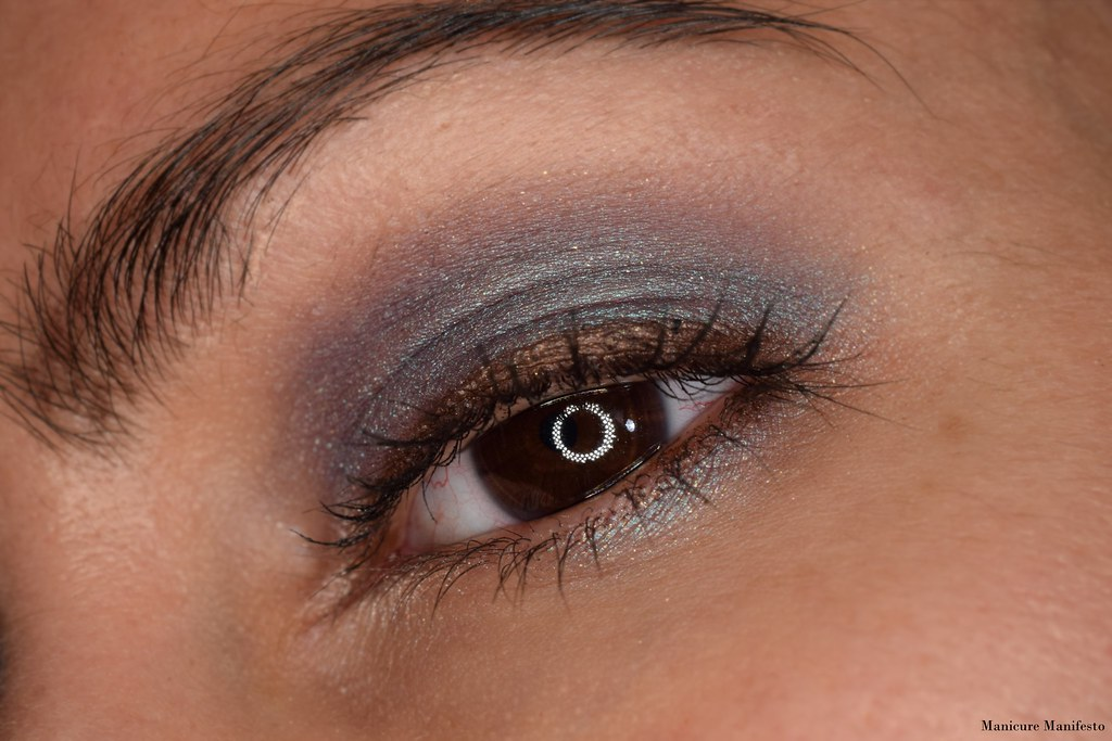 Teal and purple eye tutorial