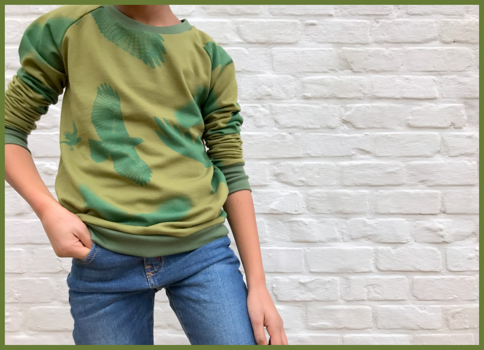 mean green sweater 1