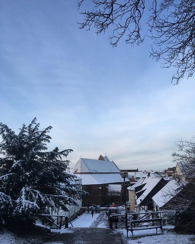 friday morning, snowy, helsingborg
