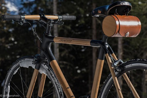Our Leather Barrel Bag looks right at home traveling through the Alps on a @drehmomentbikes.