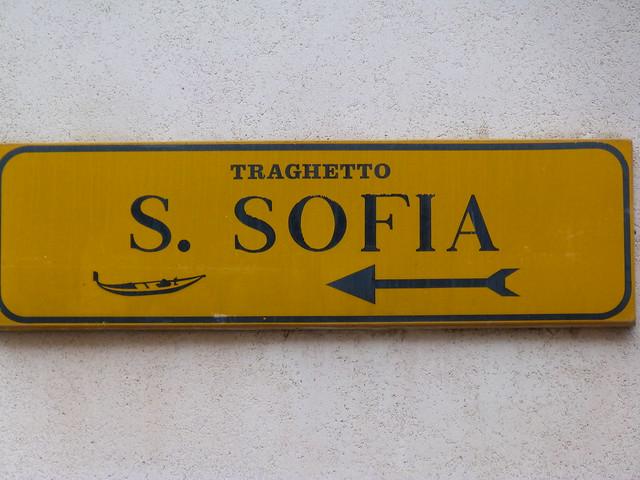 Indicación de Traguetto en Venecia