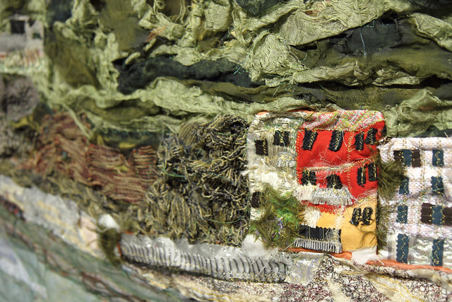Detail of textile art by DAMSS