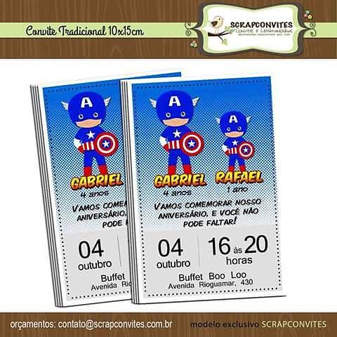 Convite Para Os Super Heróis Festasuperherois Festaher Flickr