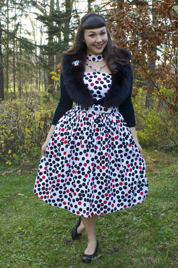 polka dot retro dress
