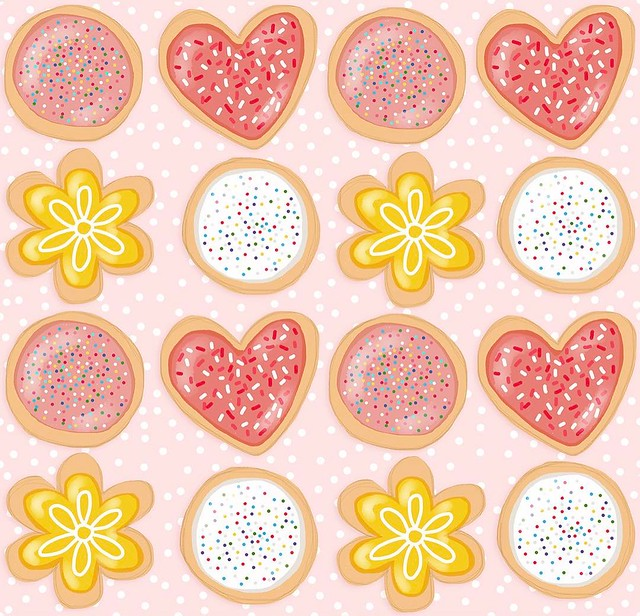 #patternjanuary day 20 #BakedGoods - I have been wanting to make and decorate (and eat) sugar cookies since before Christmas. The kind with royal icing that hardens perfectly smooth. These are pretty tame, but the ones I want to make are gonna be a rainbo