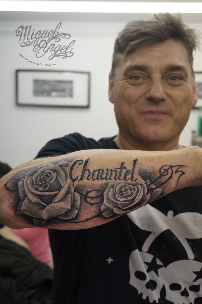 Tattoo Cover Up Letters   Roses Cover Up Letters Miguel Angel Custom Tattoo Artist W Flickr