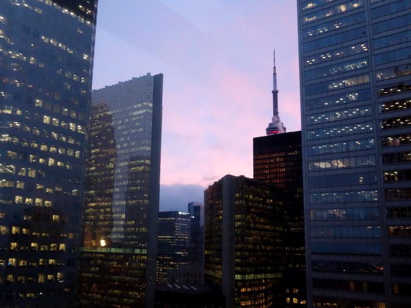 Toronto pink sky