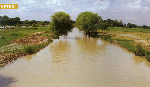 मनरेगा में लोगों द्वारा श्रमदान के बाद ससुर खदेरी नदी की स्थिति