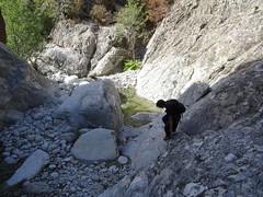 Les vasques du Vaglie au niveau de l'étroiture rocheuse