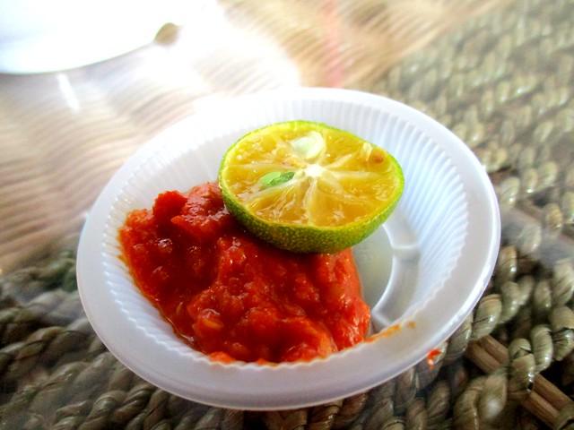 Ayam Penyet Ria, Sibu sup tulang chili dip